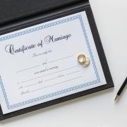 свидетельство о браке, пустое